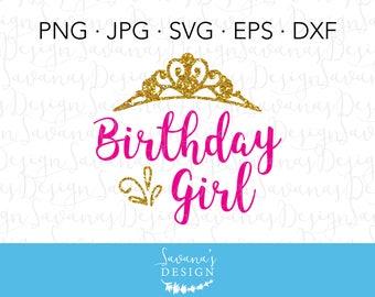 Birthday Girl Svg, Birthday Girl SVG, Birthday Girl Crown, Birthday Girl Tiara, Birthday SVG Files, Birthday Girl Decal, SVG Birthday