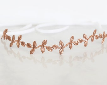 Petite Leaves - A crown headband of little Rose Gold leaves, Boho Headband, Crown, Halo, Boho wedding accessory, flower crown, hair, bridal