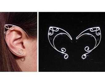 EAR CUFFS made in sterling silver - Elf ear cuff - Elf ears - Even ear cuff - Elven ears - Fairy ears - Elf earrings - Elven jewelry Elvish