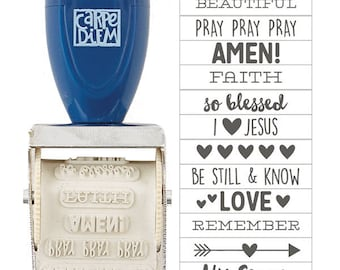 Faith Rotary Stamp 12 Designs Simple Stories (7720) Bible Journaling