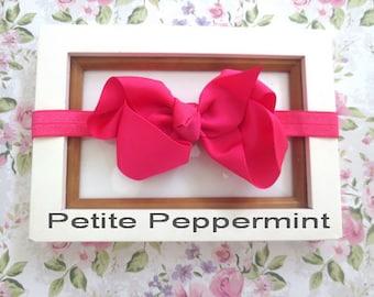 Hot Pink Baby headband, baby girl headband, newborn headband, toddler headband, Baby Hair Bow, Baby head band bow, girl hair bow