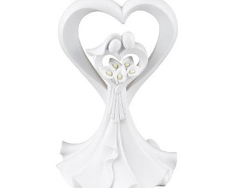 Love's Embrace Calla Lily Wedding Cake Topper