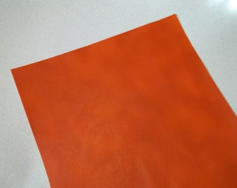 Orange Faux Leather Sheet - DIY - Vinyl sheet - Hair Bows - Headbands - Hair Clips - Embroidery, Journal Covers, Jewelry, coin purses