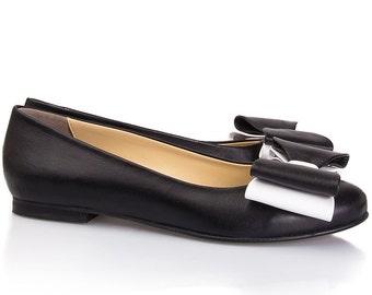 Black & White Ballerina Flats