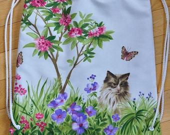 Kittens In A Garden Drawstring Knapsack