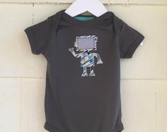 Robot Bodysuit | Binary Code | Robot Onesie | Stem Clothing | Baby Gift | One Piece | science gift| computer gift