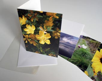 A5 Flower Photograph Greeting Card