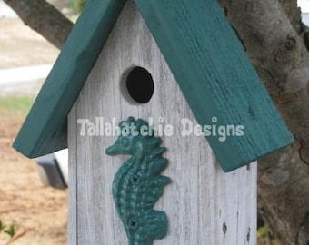 nautical birdhouse, beach style birdhouse, birdhouse outdoor, country garden birdhouse, cedar birdhouse, wooden bird house