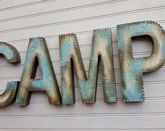 Boy Name Letters - Rustic Block Font - Nursery Letters - Distressed Look - Girl Name Letters - Vintage Kids Room