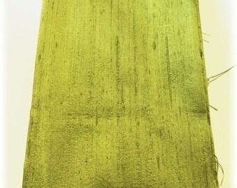 FQ Fat Quarter Dupioni Silk Fabric PESTO GREEN for Use in Your Sensational Silk Sewing Adventures!