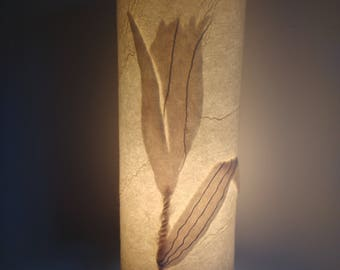 Lily bud hand made felt lamp