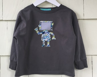Robot Tee Shirt| Binary Code | Long Sleeve Tee| Robot Gift | Stem Clothing | STEM Gift | One Piece | Science Gift | Computer Gift