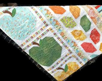Patchwork Quilt, Summer Apple Harvest