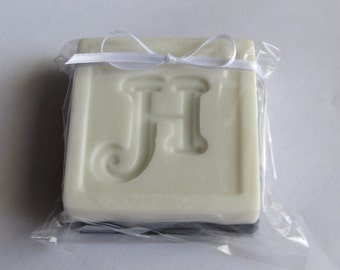 Monogrammed Soap - personalized with initial - black & white - choose scent - other colors available