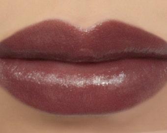 "Vegan Lipstick - ""Hot Cocoa"" natural deep brown mineral lipstick"
