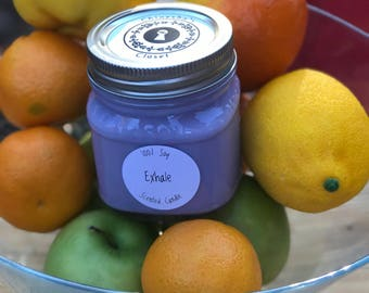 Exhale// Highly Scented 100% Soy Candle//Handmade Candle//Hand Poured Candle//Coworker Gift
