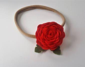 Red Rose Headband