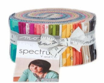 Ombre Confetti Metallic 2.5 inch Strip Jelly Roll from Moda Fabric by V and Co. - 10807JR