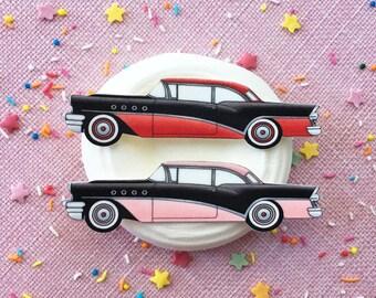 Vintage 1955 Buick Brooch or Fridge Magnet / Pin / Pinup / 1950s / Vintage / Rockabilly / Retro / Car