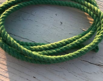 4MM Natural Green Cotton Twisted Cord Rope Craft Jewelry Beading Macrame Artisan String