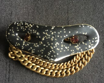 Vintage Mardi Gras Mask Brooch