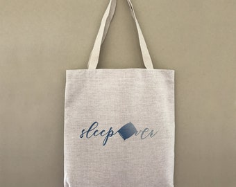 Tote Bag Sleepover Pillow Overnight Custom Customizable Personalized Gift For Her Gift For Him Farmers Market Shopping Bulk