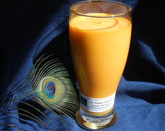 Jamaica Me Crazy Scented Soy Candle in Tropical Drink Glass