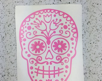 SUGAR SKULL Vinyl Decal - Skull Decal - Sugar Skull Decal - Skull Sticker - Sugar Skull Sticker - Vinyl Decal - Vinyl Sticker - Car Decal