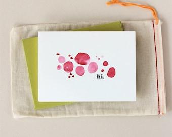 Hi: Watercolor Notecard Set