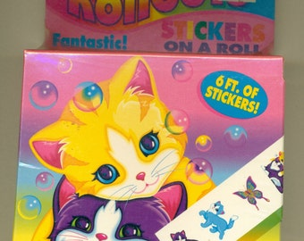 SALE Lisa Frank Rollouts Stickers Featuring Kitty Designs