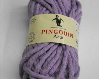 wool Penguin azure 50 cotton 50 purple lilac acrylic 50g fingering 9 / / 69