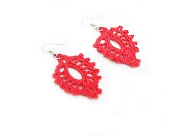 PDF Tutorial Crochet Pattern...Lace Dangle Earrings -4