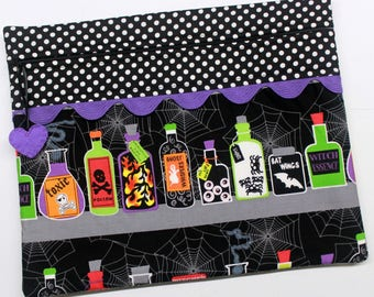 Halloween Potions Cross Stitch Embroidery Project Bag