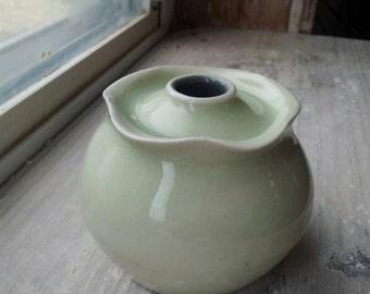Frilly Porcelain Bud Vase