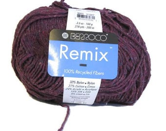 Berroco Remix Cotton Silk Linen Yarn 1 Skein Merlot 3985