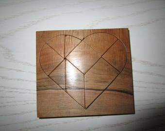Broken heart Tangram Chinese or head