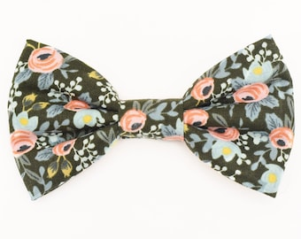 The Dekoven Bow Tie — Dog Bowtie, Brooklyn Bowtied, Floral, Flower, Girly Ring Bearer, Collar, Outfit, Rifle Paper, Trendy, Rose