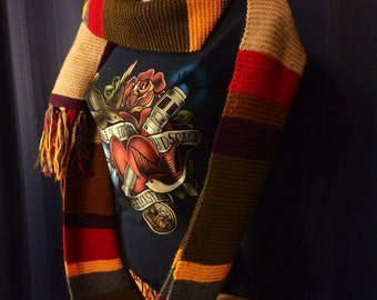 MADE-TO-ORDER Handmade 4th Doctor's Scarf