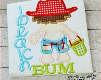 Beach Bum boy applique