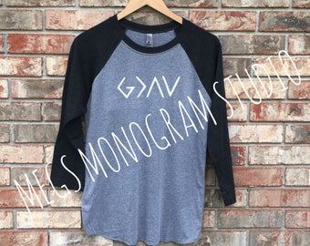 God Is Greater Than The Highs And Lows Raglan Tee!