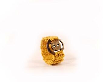 mustard seed ring - button ring - crochet ring - mustard seed jewelry - Crochet jewelry - crochet - MudenoMade