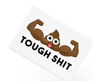Tough S Poop Emoji Ceramic Fridge Magnet, Funny Fridge Magnets, Refrigerator Magnet, Kitchen Decor, Poo Emoji, FM004