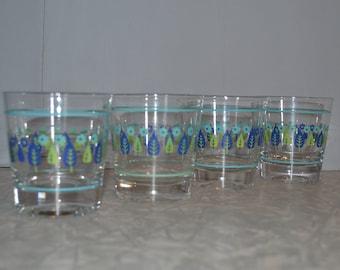 Marcrest Swiss Chalet Old Fashion Glasses Set of 4 ~ Swiss Alpine Glasses ~ Mid Century
