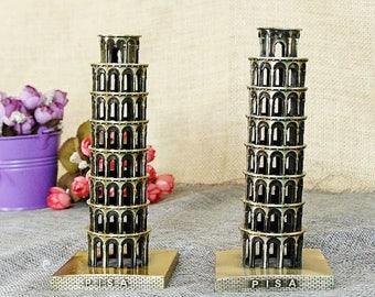 """Beautiful mock Tower of Pisa """"Pisa"""" metal 3D o35mm 150mm"""