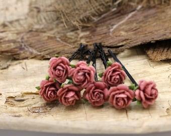 Flower Hair Pieces, Paper Flower Hair Pins , Bridal Hair Pins, Hair Bobby Pins,rustic wedding,Bridal Hair Accessories (FL377)
