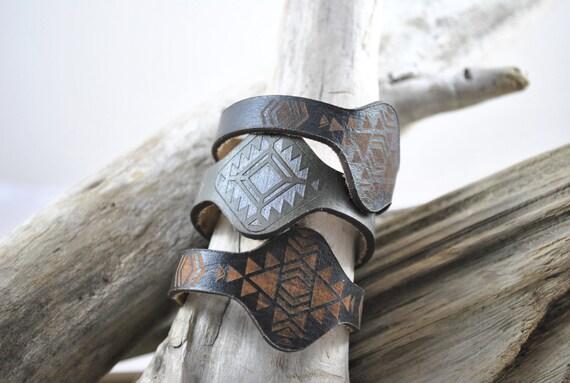 JEWEL | bracelet | Leather Bracelet | Jewelry | Cuff | Leather Wrap