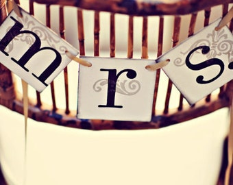 Mr. and Mrs. Banners / Mr. Mrs. Wedding Sign / Wedding Decorations