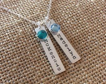 Personalized Mom Necklace, 925 Grandma Necklace, Grandkids Name Necklace, Kids Names Necklace for Mom, Stamped Evermore