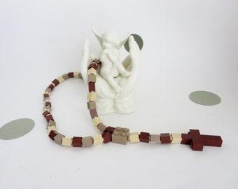 Catholic Rosary made of Lego Bricks - Desert Camouflage  Rosary - First Communion Gift  - Ready To Ship