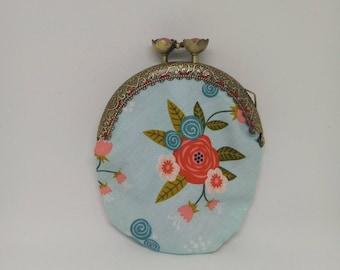 Wallet blue flowers